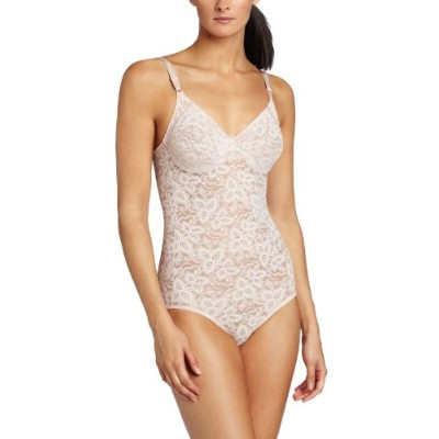 Bali 8L10 Lace N Smooth Body Briefer Size 36B Rosewood