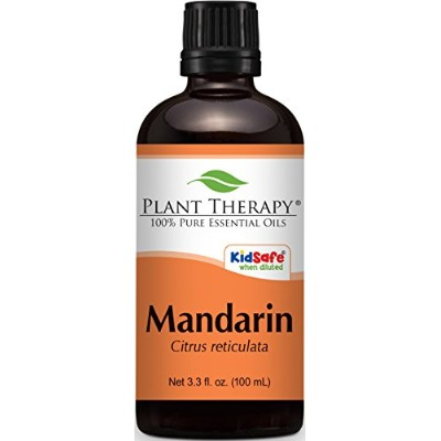 Plant Therapy Mandarin Orange Essential Oil. 100 ml (3.3 oz) 100% Pure & Undiluted for Aromatherapy...