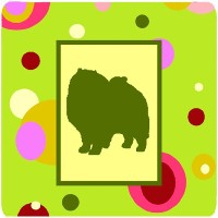 "Caroline 's Treasures ck1137fc Keeshond Foam Coasters ( Set of 4 )、3.5 "" H x 3.5 "" W ,マルチカラー"