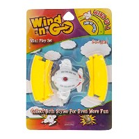 Items 4U Aeroplane Wind-n-Go Mini Play Set With 8 Pieces of Track, White, 2-Pack