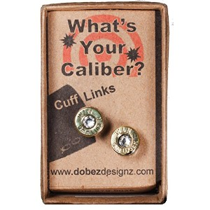 9 mm Lugar Brass Cuff Links w /スワロフスキーcrystals-clear ( Win )