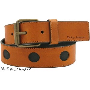 Nudie Jeans co/ヌーディージーンズ PERSSON CUT OUT BELT レザーベルト COGNAC(コニャック)