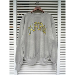 【 EAGLE SPORTS WEAR REVERSE WEAVE SWEAT CREW CALIFORNIA GRY 】EAGLE MADE IN USA アメリカ製 スウェット リバースウィーブ...