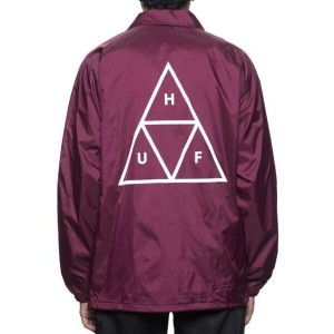 HUF Triple Triangle Coaches Jacket Maroon XL コーチジャケット