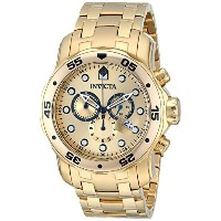 "[インヴィクタ]Invicta 腕時計 ""Pro Diver"" Chronograph 18k Gold-Plated Stainless Steel Watch 0074 メンズ [並行輸入品]"