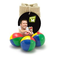 [MRM]MRM 3 Quality Juggling Balls + FREE online Instructional Video + Burlap Carry Bag by MisterM...