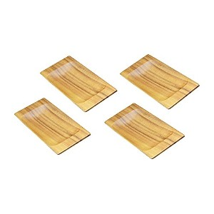 Pacific Merchants Trading アカシア製アペタイザートレー Appetizer Trays, Set of 4 K0065