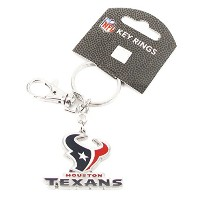Houston Texans – NFL Heavyweightキータグwithクリップ