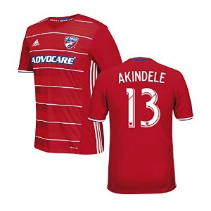 Adidas AKINDELE #13 FC Dallas Home Jersey 2016 (Authentic name & number) /サッカーユニフォーム FCダラス ホーム用...