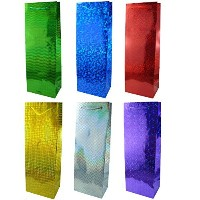 Gift Bags Hologram (Wine Bottle) Pack 6 by dexi