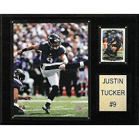 NFL Baltimore Ravens Justin Tucker Player Plaque、12 x 15インチ、ブラウン