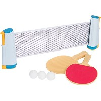 Anywhere Table Tennis Set with Paddles &ボールby Trademark Innovations (ブルーとイエロー)