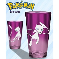 16oz Official Pokemonパープルプレミアムパイントガラスギフトwith Mew両側に