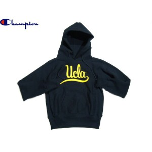 """CHAMPION(チャンピオン)/CLASSIC COLLAGE REVERSE WEAVE PULLOVER HOODIE """"UCLA""""/made in U.S.A./navy"""