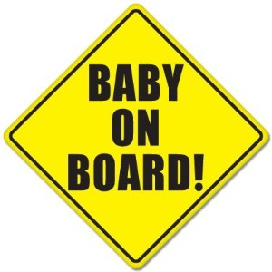 BABY ON BOARD baby safety sign car sticker 5 x 5 by StickyChimp
