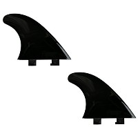 "4.5 "" Flexy Tip Fin Stabilizer for Shortboard to SUP、最小Flexの川とサーフ2タブミニボックス+ FCS互換 (Black, TWIN ..."