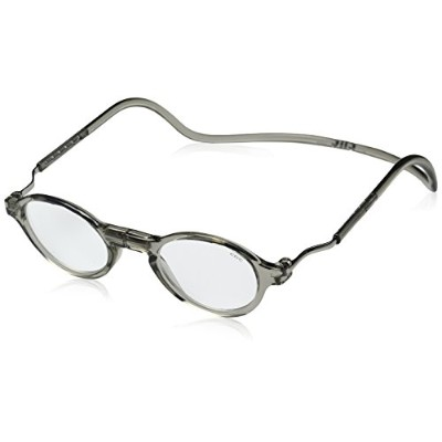 CliC Magnetic Classic Reading Glasses, Smoke, +1.50 by CliC