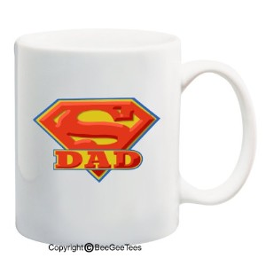 Super Dad–11オンスマグ–Happy Fathers Day by BeeGeeTees 01150