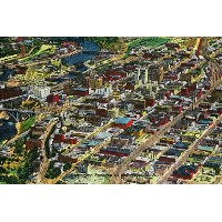 Downtown Spokane from the Air 36 x 54 Giclee Print LANT-1143-36x54