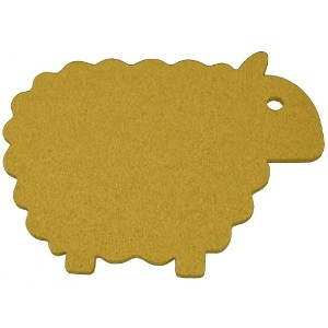 Cork Nature 490419 Korko Farm Collection Trivets, Sheep by Cork Nature