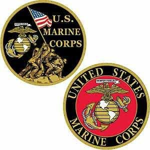 "【Marines Challenge Coin Iwo Jima Colorized with Raised詳細( 1 5 / 8 "" )】 b00lli6q62"