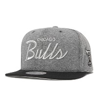 (ミッチェルアンドネス) MITCHELL&NESS FLEECE CLEAR SCRIPT SNAPBACK CHICAGO BULLS GREY [並行輸入品]