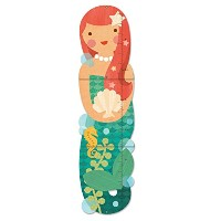 Petit Collage Folding Growth Chart, Little Miss Mermaid by Petit Collage