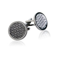 Woven Cufflinks inローズゴールドby Jewelry Mountain