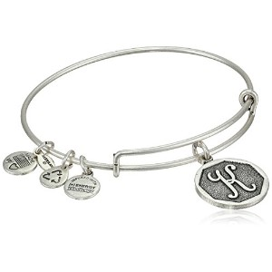 "Alex and Ani Initial Expandable Wire Bangle Bracelet , 2.5 "" X"
