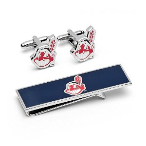 Cleveland Indians Cufflinks and Money Clip Gift Set