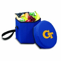 NCAA Georgia TechイエロージャケットBongo Insulated Collapsible Cooler、ネイビー