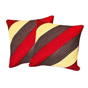 Straight Quilting Red Comb 30X30 Cms(2 Pcs Set)