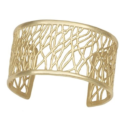 Tree of Life Branches Cuff by Mercedes Shaffer ゴールド