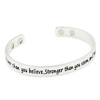 """"""" You are braver / Stronger / Smarter「。。。磁気療法ブレスレットfor関節炎Pain Relief"""