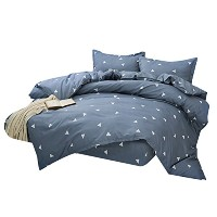 Zhuhaitf 布団カバー Luxury Duvet Cover and Fitted Sheet and Pillowcases Quilt Bedding Set Reversible...