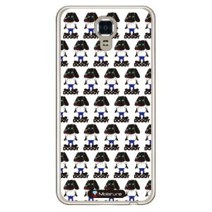 【送料無料】 Doggy Runnin Pattern (ソフトTPUクリア) design by Moisture / for LG X screen LGS02/MVNOスマホ(SIMフリー端末...