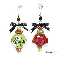 【ORNAMENT MERRY CHRISTMAS Y'ALL LARGE DOTS ASSORT 2個セット】 オーナメント クリスマスツリー 飾り アメリカ雑貨 アメリカン雑貨 クリスマス...
