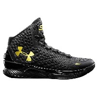 """Under Armour Curry One """"Blackout""""Black/Goldi アンダーアーマー カリー ウォリアーズ"""