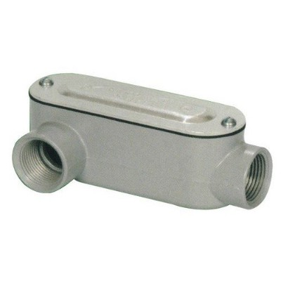 Morris 14094 Rigid Conduit Body, Aluminum, Type LR, Threaded with Cover and Gasket, 1-1/2 Thread...