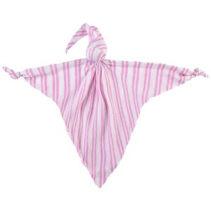 Mussi Cuski Sweetie 赤ちゃん用抱き枕 (Pink and White Stripes)