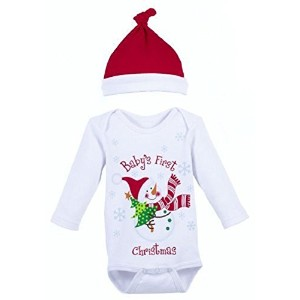 Ganz Christmas Baby Diaper Shirt and cap-Baby's First Christmas by Ganz