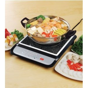 Tatung Induction Cooker with Stainless Steel Pot - 1500 Watts(BLACK) by Tatung