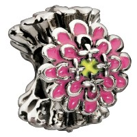 """Authentic Chamilia Charm """" Blooming Zinnia """"–ピンク2020–0651"""