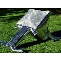 Silver Balloon Solar Cooker - ultra-light, ultra-portable, ultra-compact next generation solar oven...