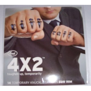4x2 Temporary Knuckle Tattoos For Him by Fred & Friends [並行輸入品]