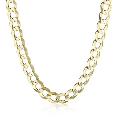 "Curated 10k Yellow Gold 7.2mm Italian Cuban Chain Necklace, 26"" 10K-IMDOAF6-26-YG メンズ [並行輸入品]"