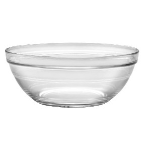 Duralex - Lys Stackable Clear Bowl 20 cm (7 7/8 in) Set Of 6 by Duralex