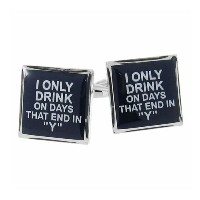 I Only Drink On Days That End In YアルコールLiquor Cufflinksオフィスギフト