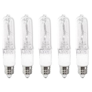 Anyray a1808y ( 5 ) -pack JD 250ワットe11 250 W mini-candelabra t4ハロゲンライト電球、クリア250ワット、電球
