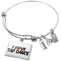 Expandable Wire BangleブレスレットI Love Tap Dance、NEONBLOND